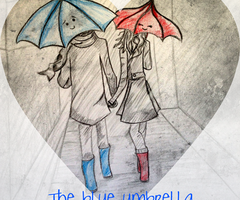 The blue umbrella4