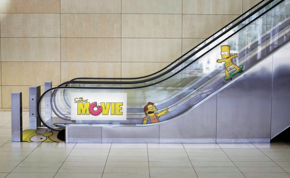 homer simpson escalator