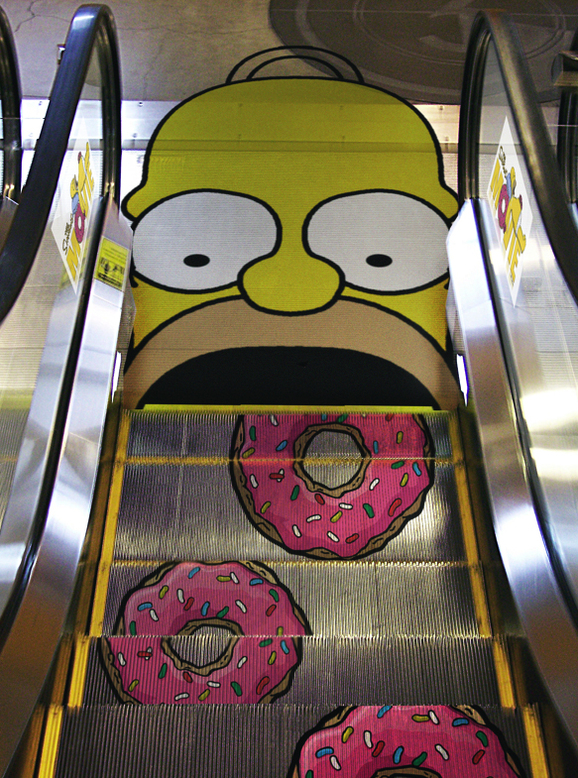 homer simpson escalator2
